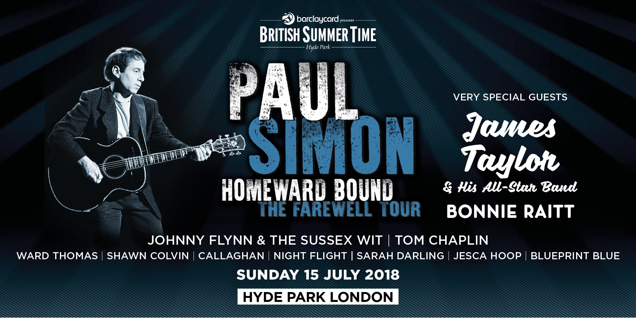 Paul simon barclaycard presents bst hyde park bstps1024x512g malvernweather Images